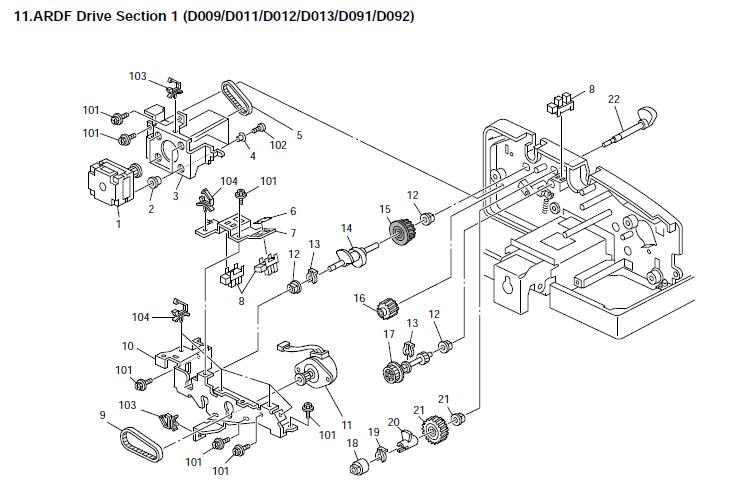 Ricoh Aficio Mp 5001 Parts List And Diagrams