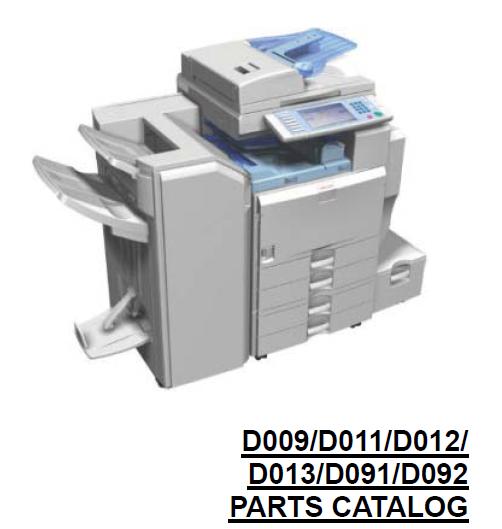 Ricoh Aficio MP 5000B Parts List and Parts Diagrams