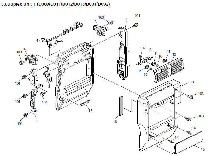 Ricoh Aficio Mp 5000 Parts List And Diagrams