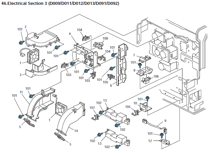Savin 9050 Parts List And Diagrams
