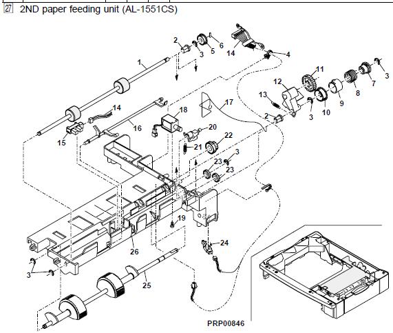 Sharp Al 1215 Parts List And Diagrams