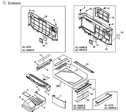 toshiba e studio 901 1101 1351 service manual repair guide parts list catalog