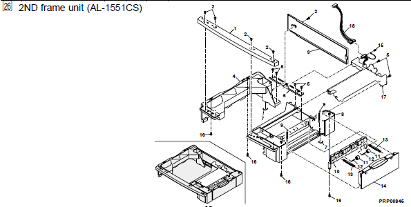 Sharp Al 1540cs Parts List And Diagrams