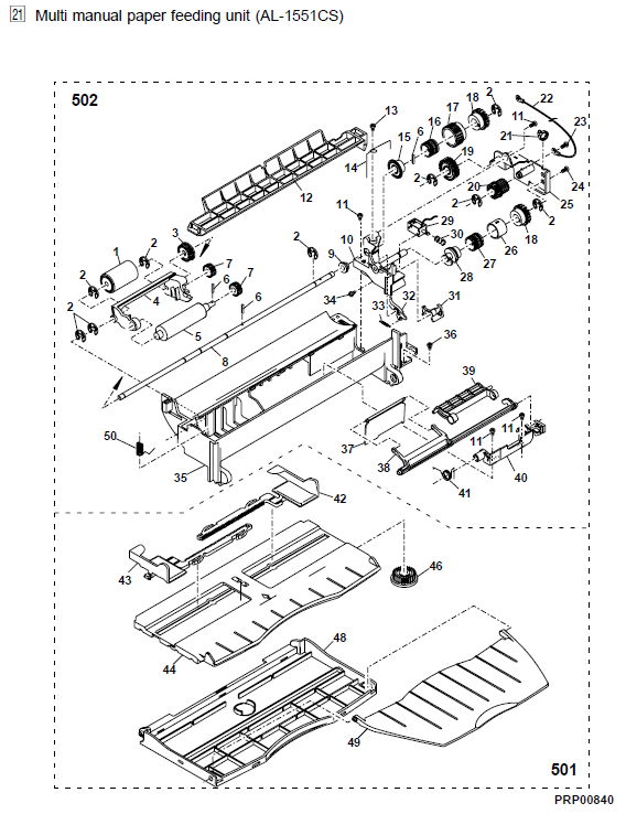 Sharp Al 1530cs Parts List And Diagrams