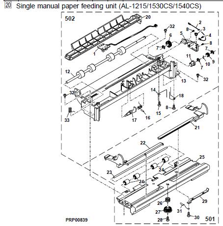 Sharp AL-1551CS Parts List and Diagrams