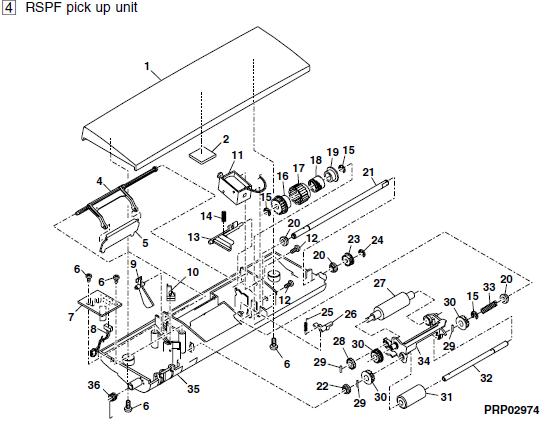 Sharp Al 1651cs Parts List And Diagrams