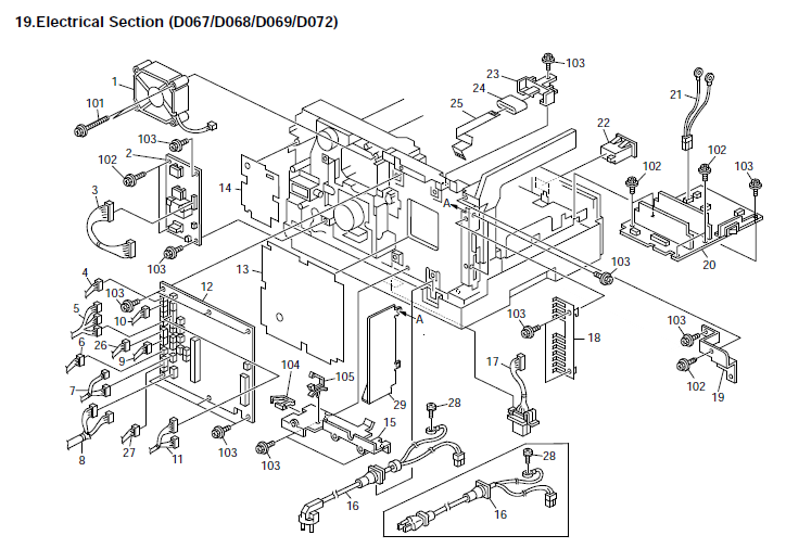 Ricoh    Aficio       MP 171        Aficio       MP       171F        Aficio       MP       171SPF        Aficio       MP 171    Parts List and    Diagrams