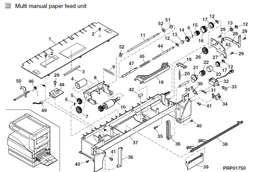 Sharp Ar M276 Parts List And Illustrated Parts Diagrams