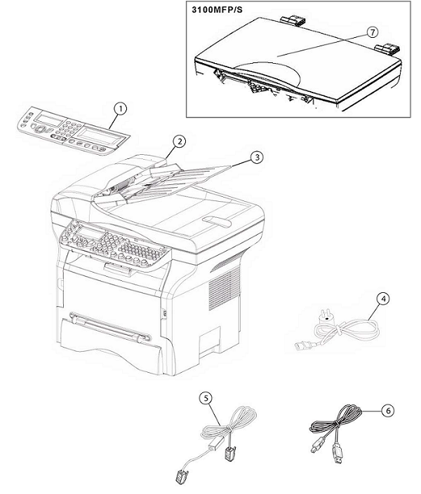 Xerox Phaser 3100 Parts List and Diagrams