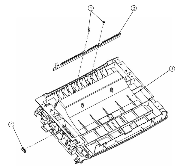 PL 4 Xerox Phaser 3100 Output Tray Assembly