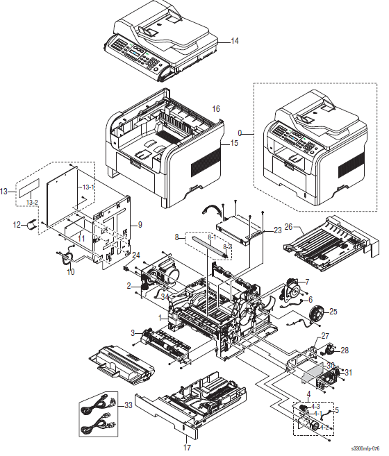 Xerox Phaser 3300MFP Parts List 1.0 Main