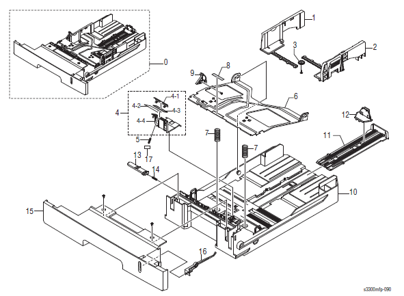 Xerox Phaser 3300MFP Parts List 15.0 Cassette Assembly