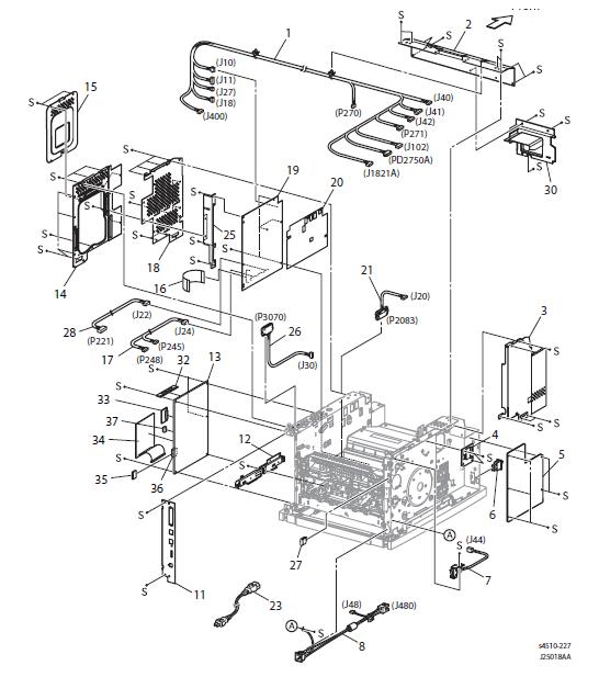 0Xerox Phaser 4500 - 4510 Parts List 21.1 Duplex Unit