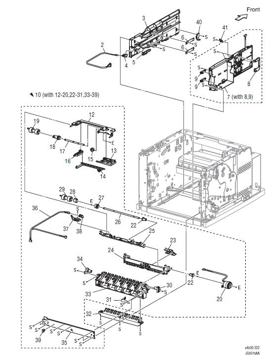 Xerox Phaser 4500 - 4510 Parts List 7.1 550-Sheet Paper Feeder