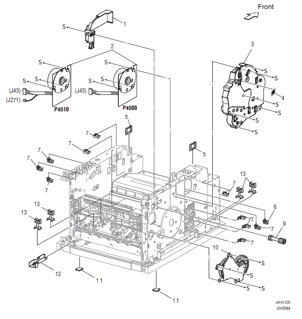 Xerox Phaser 4500 - 4510 Frame and Drive