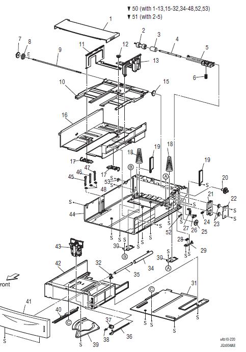 Xerox Phaser 4500 - 4510 Parts List 4.1 550-Sheet Paper Cassette