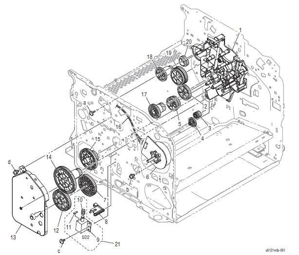 Xerox Phaser 6121MFP Part List 9.1 Drive Section (1/2)