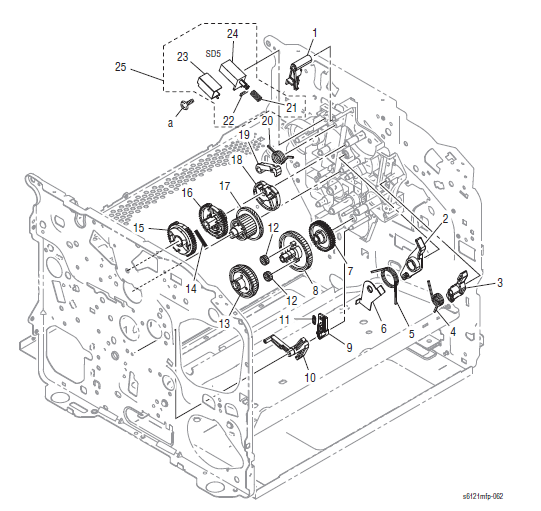 Xerox Phaser 6121MFP Part List 9.2 Drive Section (2/2)