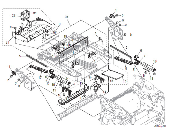 Xerox Phaser 6121MFP Part List 8.0 Paper Exit Section