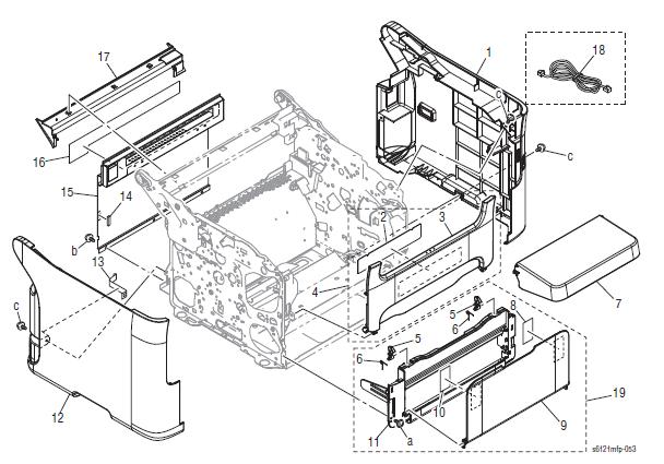 Xerox Phaser 6121MFP Part List 3.0 External Parts
