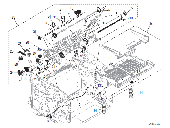 Xerox Phaser 6121MFP Part List 6.0 Paper Take-up Section
