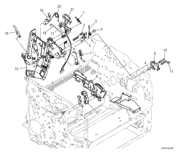 Xerox Phaser 6121MFP Part List 10.0 Right Guide Section