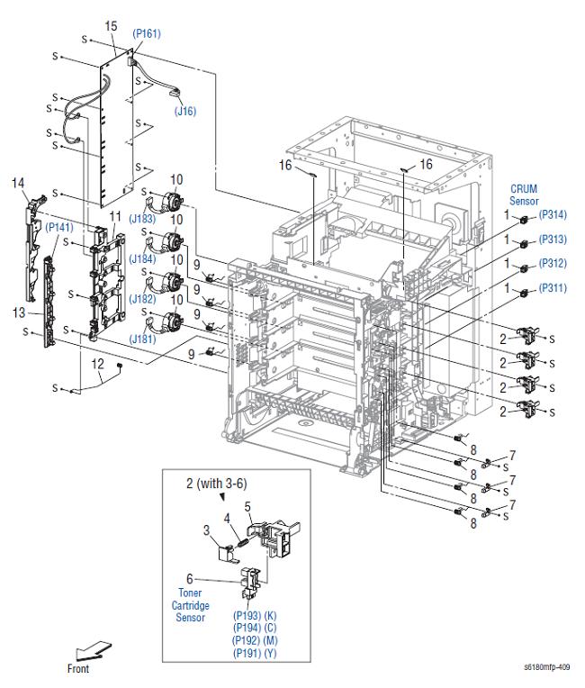 Xerox Phaser 6180 MFP Parts