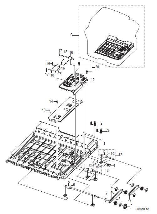 Xerox WorkCentre 3210 - 3220 Parts List 9.0 Duplex Unit
