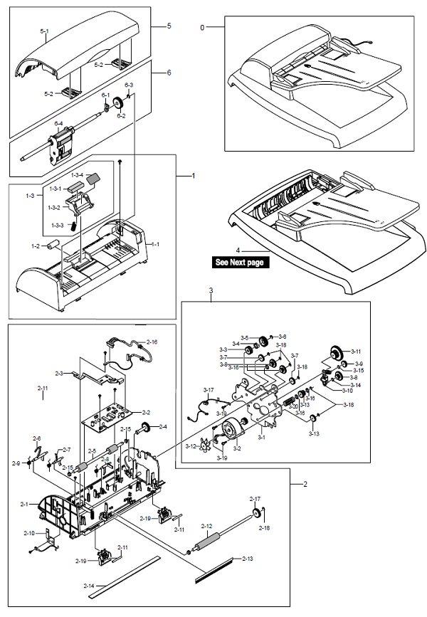 WorkCentre PE ADF Assembly Parts List