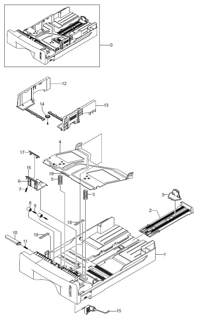 WorkCentre PE16Cassette Assembly Parts List