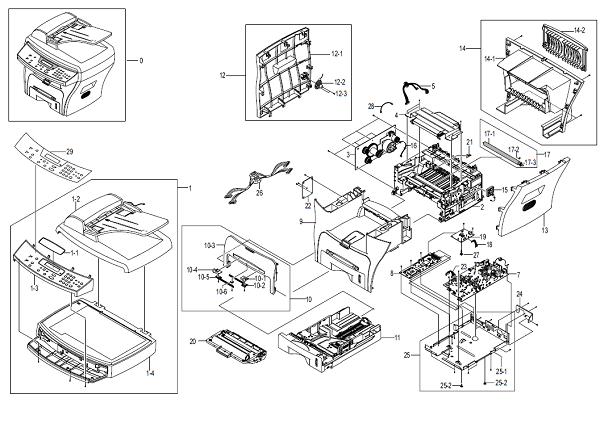 WorkCentre PE16 Main Assembly Parts List