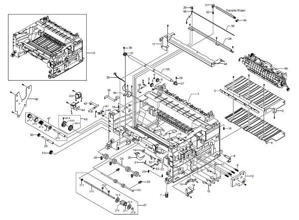 WorkCentre PE16Frame Assembly Parts List