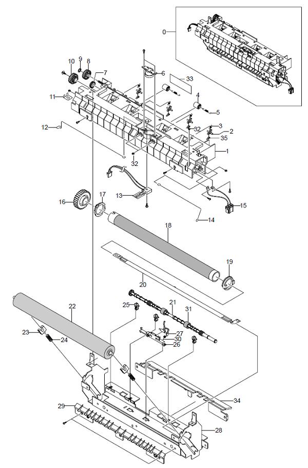 WorkCentre PE16Fuser Assembly Parts List