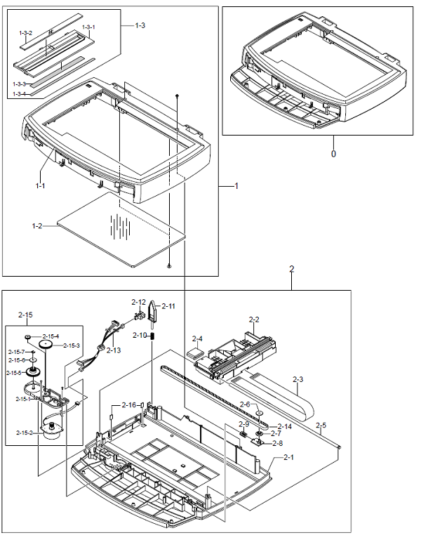 8.5 WorkCentre PE16Scanner Assembly