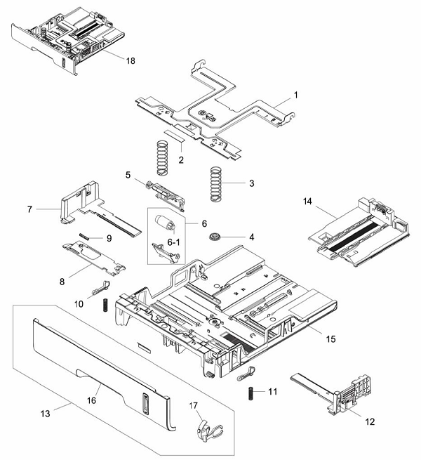 PL 6.1 Xerox Workcentre 3215-3225 Paper Tray