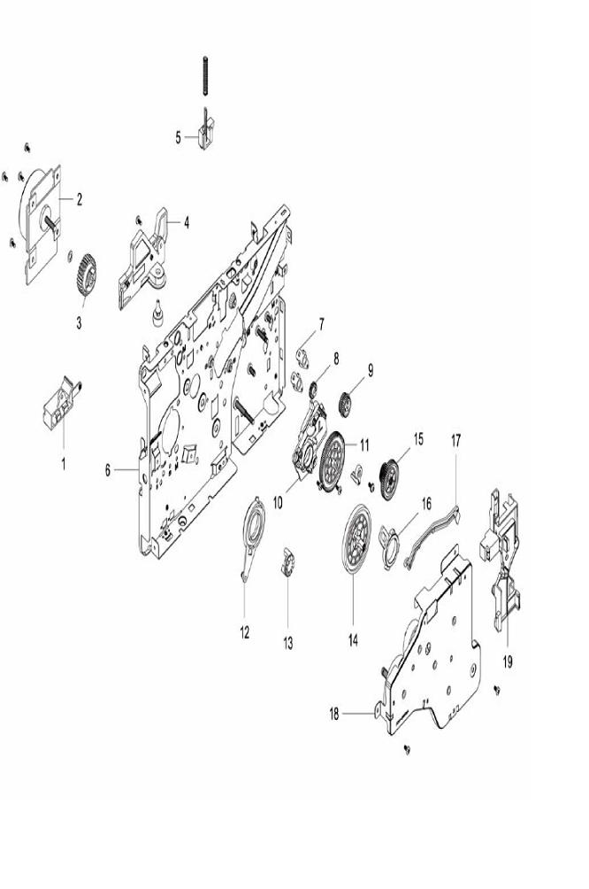 PL 4.6 Xerox Workcentre 3215-3225 Left Main Frame