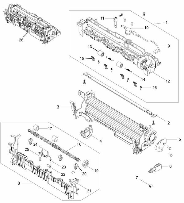 PL 4.7 Xerox Workcentre 3215-3225 fuser
