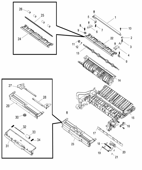 PL 4.4 Xerox Workcentre 3215-3225 Paper Path