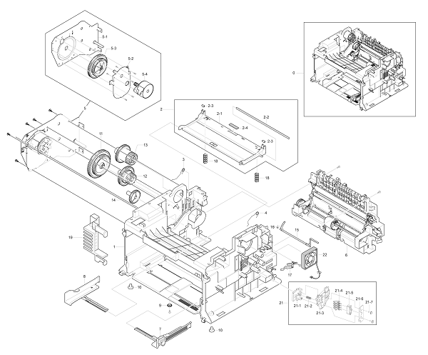 Xerox Workcentre PE 220 Main Frame Assembly