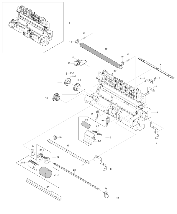 Xerox Workcentre PE 220 Paper Path Assembly