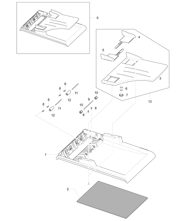 Xerox Workcentre PE 220 Platen Cover Assembly
