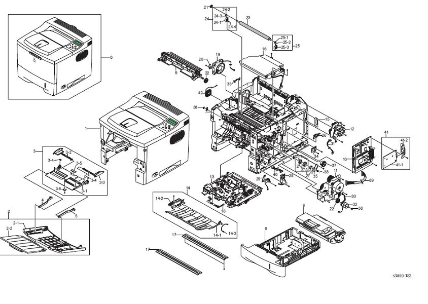 Xerox Phaser 3450 Main Unit