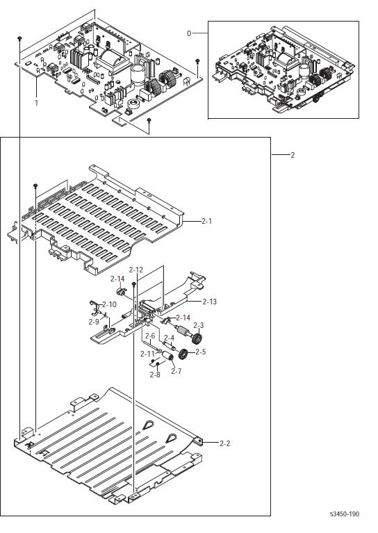 Xerox Phaser 3450 HVPS/Duplex Assembly