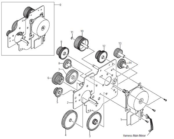 Xerox Phaser 3450 Main Drive
