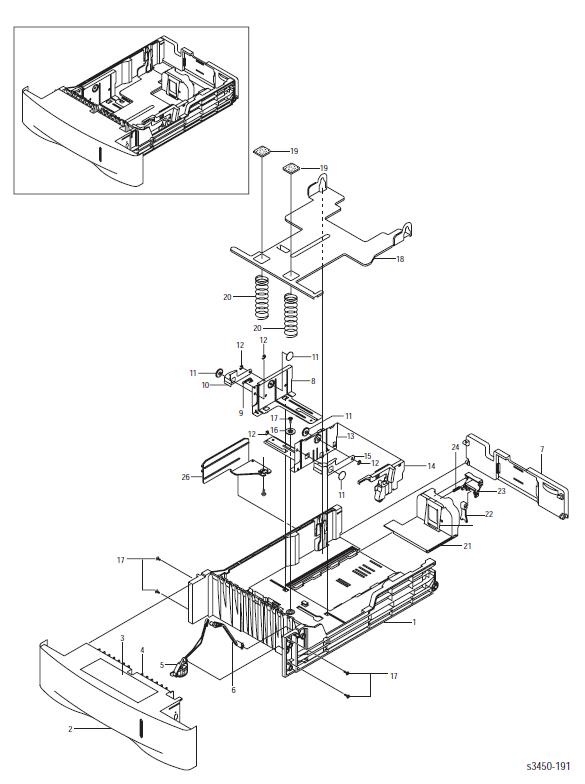Xerox Phaser 3450 Paper Tray