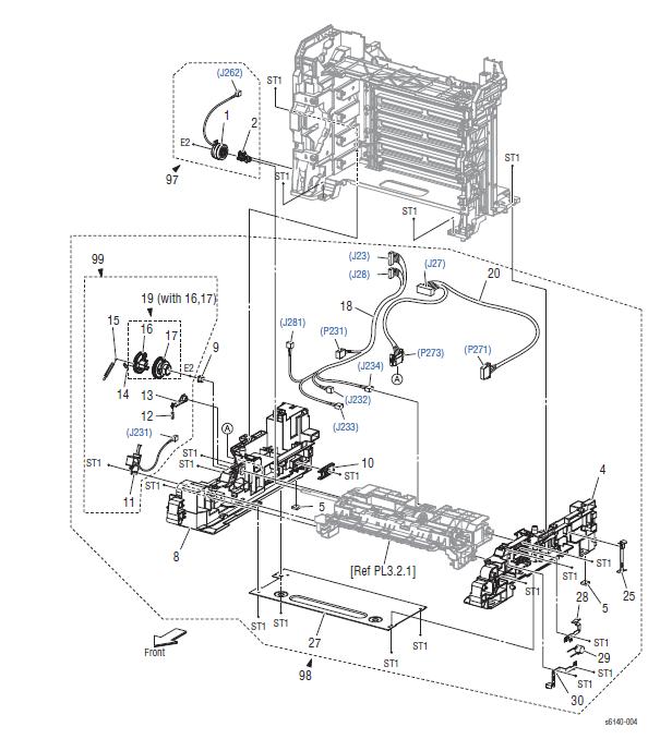 Xerox Phaser 6140 Parts List 3.1 Feeder (1/2)